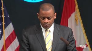U.S. Transportation Secretary discusses new regulations regarding flammable liquid train cars
