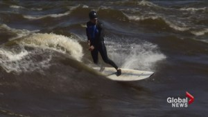 Ottawa river used by local surfers to practice