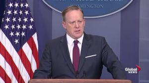 Spicer scolds reporter for negative question: 'It's optimistic Friday'
