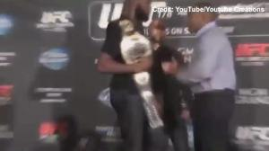 UFC champ Jon Jones brawls with opponent at pre-fight press conference
