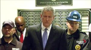 Mayor de Blasio has a message for anyone who lives in immediate area of crane collapse