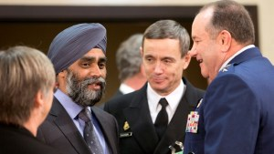 Canada's Sajjan meets with NATO defence ministers in Brussels