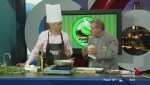 In the Global Edmonton kitchen with the Green Bean Coffee House & Bistro