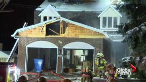 Fire rages through Kirkland home