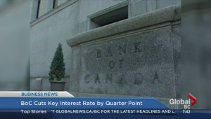BIV: Bank of Canada cuts interest rate by quarter of a per cent