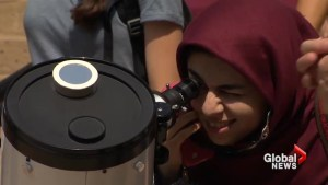 Canadians react to witnessing solar eclipse