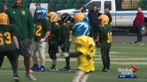 Eskimos work with aspiring football players ahead of training camp