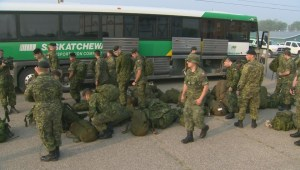Saskatchewan army reservists help combat growing wildfires
