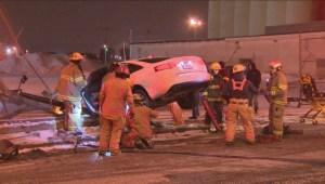 Accident on Notre-Dame in Hochelaga-Maisonneuve