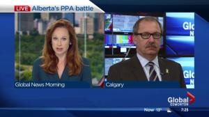 Alberta PC Interim Leader reacts to Power Purchase Agreements