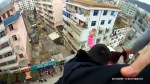 Man stops wife attempting to leap to death by catching her by ponytail