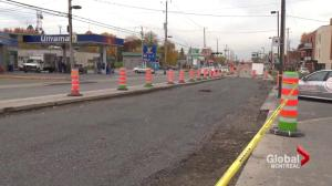 Ongoing Gouin Boulevard construction