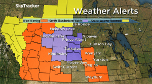 Severe thunderstorm watch in Saskatoon