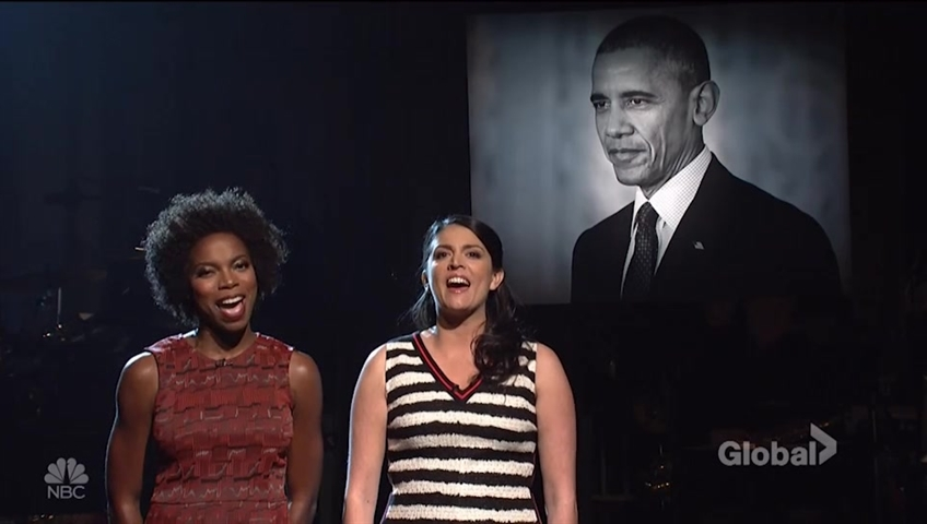 'SNL' pays tribute to Barack Obama with 'To Sir, with Love'