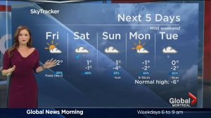 Global News Morning weather forecast: Friday, January 20