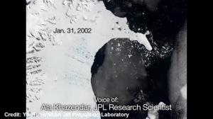 Larsen B ice shelf is rapidly thinning