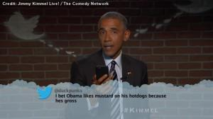 President Obama reads 'Mean Tweets' on Jimmy Kimmel Live! – including one from Donald Trump