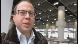 Germanwings counter at Dusseldorf Airport quiet