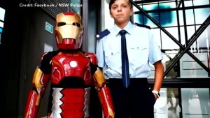 'Iron Boy': 9-year-old with life-threatening illness becomes superhero for a day