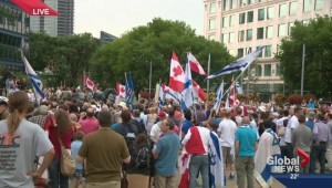 On scene: City hall pro-Israel rally