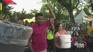 ALS ice bucket challenge at the PNE