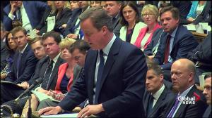 David Cameron praises Mark Carney during speech before House of Commons