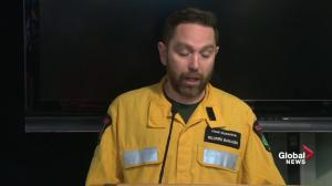 Wildfire Manager Chad Morrison updates the latest on the Alberta wildfire