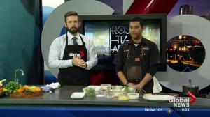 Rostizado cooks on the Sunday Morning News