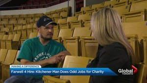 Ontario man does any job big or small to raise awareness for Cystic Fibrosis