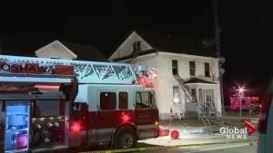 Burning man escapes Oshawa house fire through window