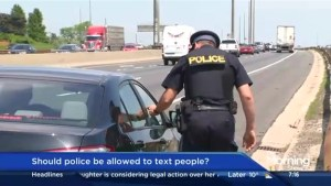 Should police be allowed to text people?