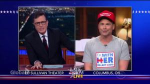 Stephen Colbert interviews 'undecided voter' Charles Henson AKA Rob Lowe