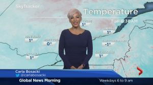 Global News Morning weather forecast: Tuesday, October 25