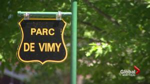 Plans to rename Vimy Park not sitting well with Montrealers