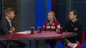 Canadian Olympian Ellie Black and Coach David Kikuchi