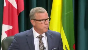 Brad Wall can't help himself but to open resignation press conference with an anecdote