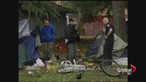 Protest held over Victoria's plan for homeless tent city