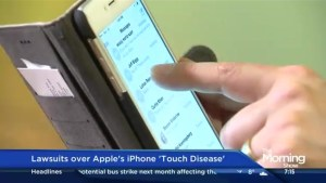 What is 'touch disease' and can a lawsuit against Apple work?