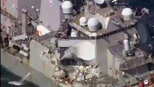 7 U.S. sailors missing after U.S. Navy Destroyer collides with merchant ship