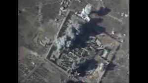 Russia releases more aerial footage showing airstrikes on alleged ISIS targets
