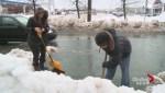 Avoiding heart complications when shoveling snow