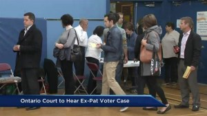 Ontario Court of Appeal hears case on ex-pat voting rights