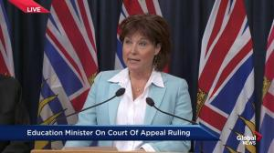 BC Premier Christy Clark says its time to put disputes with BCTF in the past