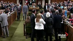 Raw: Chaos in House of Commons as PM Justin Trudeau comes into physical contact with MP