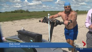 Manitoba strong man tries to push his way into the record books