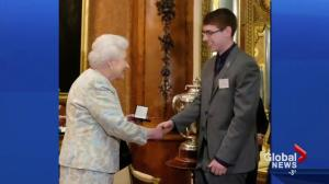 Alberta teen receives high honour from Queen Elizabeth