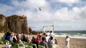 Raw Video: Rescue helicopter crashes Malibu wedding