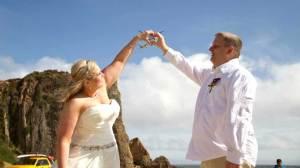 Dream Malibu Beach wedding crashed by rescue helicopter saving climber