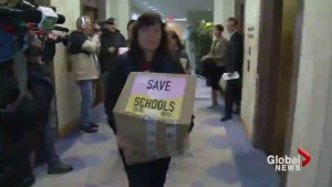 Vancouver parents present petition to education ministers office