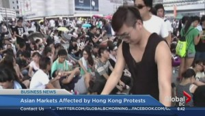 Asian markets affected by Hong Kong protests